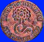 Broncemedaille Bundesgartenschau 1977