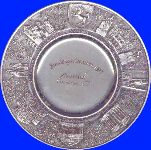 Ehrenpreis der Stadt Stuttgart für die beste Leistung bei einer Hallenschau Bundesgartenschau 1977