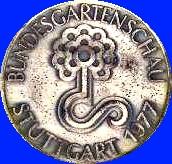 Silbermedaille Bundesgartenschau 1977