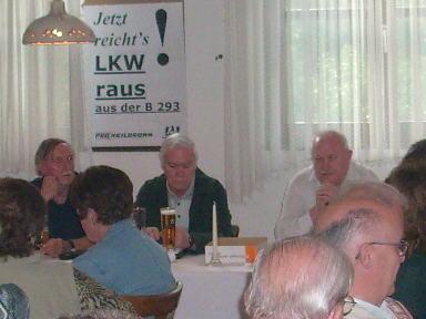 Am Vorstandstisch v.l.n.r.: Fred Steininger, Detlef Heinrich, Alfred Dagenbach